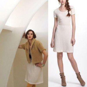 Anthropologie Gilt Grid Sweater Dress Sparrow Knit